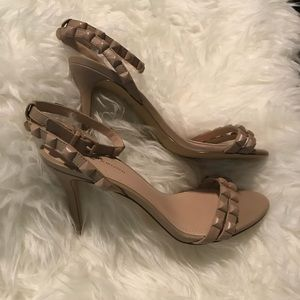 New bcbgeneration nude stud strappy heels size 7.